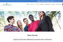 Teen Corner - A place just for teens affected by someone else's alcoholism.